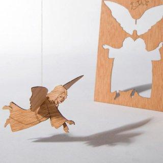 木製ポストカード(天使)