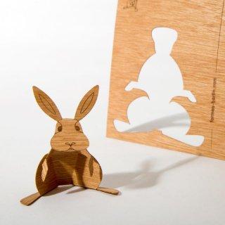 木製ポストカード(ウサギ)