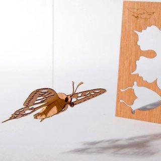 木製ポストカード(蝶)