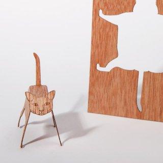 木製ポストカード(ネコ)