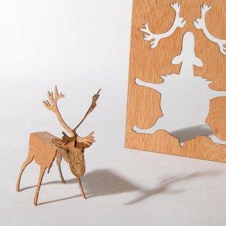 木製ポストカード(トナカイ)