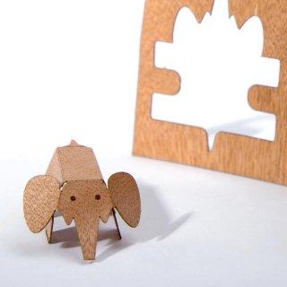 木製ポストカード(ゾウ)