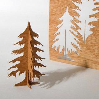 木製ポストカード(モミの木)