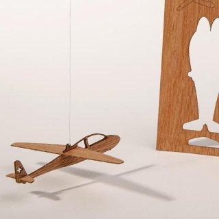 木製ポストカード(グライダー)