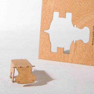 木製ポストカード(カバ)