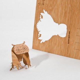 木製ポストカード(フクロウ)