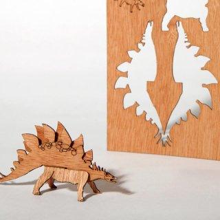 木製ポストカード(ステゴザウルス)