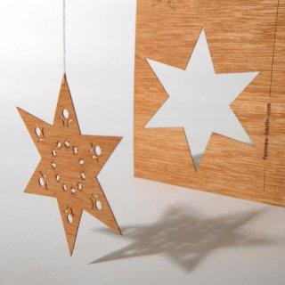 木製ポストカード(星)