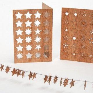 木製ポストカード(24の星)