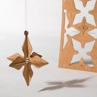 木製ポストカード(3Dスター)