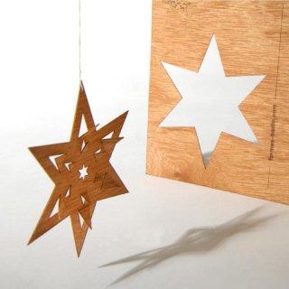 木製ポストカード(トゲつき星)