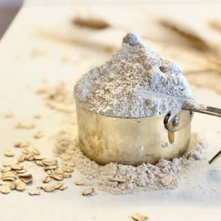 化学合成農薬/化学肥料不使用栽培 有機オーツフラワー(オーツ麦粉)500g