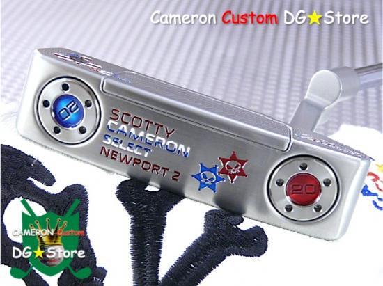 Scotty Cameron Custom 2016 Newport2 Skull Shamrock & Skull Star Rev. Limited
