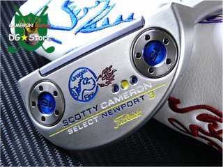 <img class='new_mark_img1' src='https://img.shop-pro.jp/img/new/icons14.gif' style='border:none;display:inline;margin:0px;padding:0px;width:auto;' />Scotty Cameron Custom 2018 Newport3 Fire Dragon Special Limited(Blueウェイト)