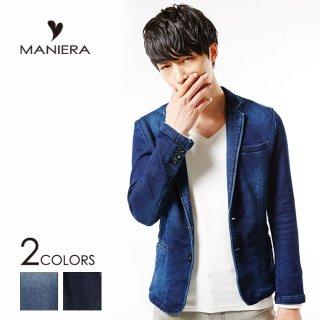 【MANIERA】★30%OFF★カットデニムテーラードJK/全2色/マニエラ