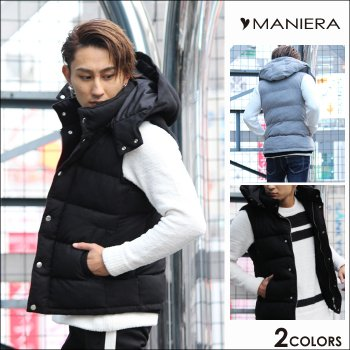 <img class='new_mark_img1' src='https://img.shop-pro.jp/img/new/icons20.gif' style='border:none;display:inline;margin:0px;padding:0px;width:auto;' />30%OFF【MANIERA】ウール中綿ベスト / 全2色
