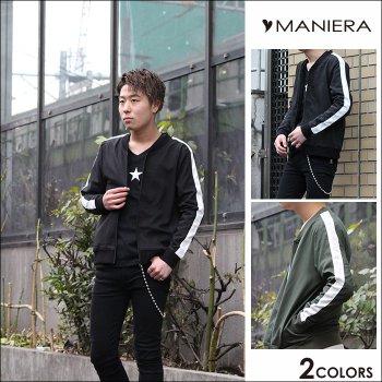 【MANIERA】袖ラインMA1 シンプル MA-1 メンズ ファッション