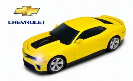 Chevolet Camaro ZL1 無線マウス イエロー
