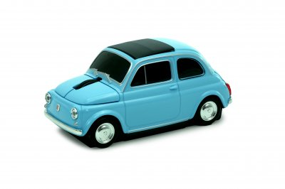AUTOMOUSE(オートマウス) Fiat 500 Nouva (Oldtimer) ブルー 無線マウス