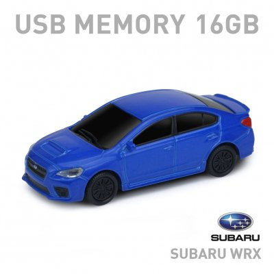 <img class='new_mark_img1' src='//img.shop-pro.jp/img/new/icons1.gif' style='border:none;display:inline;margin:0px;padding:0px;width:auto;' />【16GB】SUBARU スバル  WRX USBメモリー ブルー