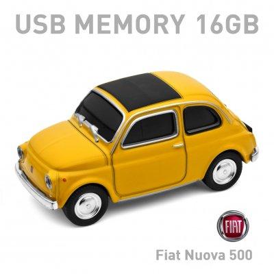 【16GB】Fiat Nuova 500 Old イエロー