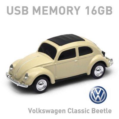 【16GB】Volkswagen Classic Beetle クラシック・ビートル クリーム USBメモリー