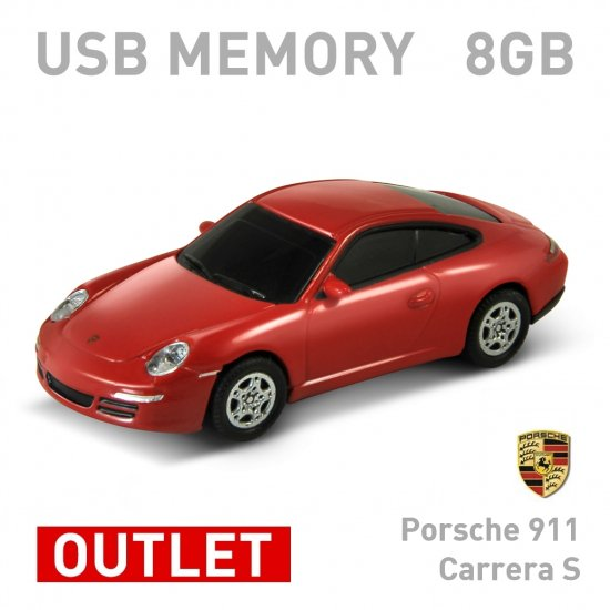 【箱ダメージアウトレット特価】Porsche 911 Carrerra S レッド 8GB ポルシェ 911 カレラ S レッド