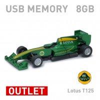 【箱ダメージアウトレット特価】Lotus T125 ロータス F1型 USBメモリー 8GB