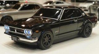 Nissan Skyline GT-R (通称 ハコスカ) BLACK 無線式 クラシックプレミアムマウス ブラック