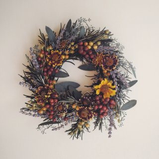 Harvest Wreath # brick