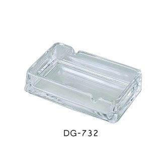 二ノ宮クリスタル 灰皿 550(スキ) (6個セット) (DG-732)