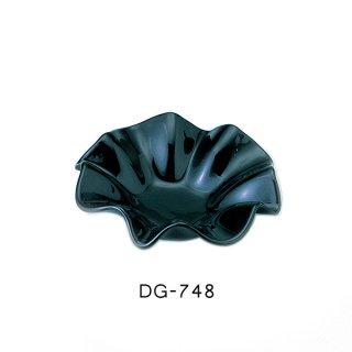 二ノ宮クリスタル 灰皿 フラワー(S)BK (6個セット) (DG-748)