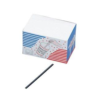 マドラーストロー 黒 500本入バラ 6箱セット (379139-6P)