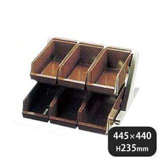 DXオーガナイザー 2段3列 ブラウン (094029)