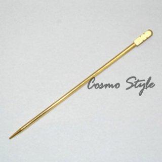 金オードブルピン6本セット 角棒(No.4) (GOLD-COCKTAILPIN-KAKUBO)