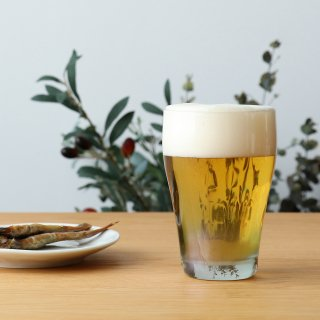 ビールグラス 泡づくりモールグラス 全2色 320ml アデリア 石塚硝子 (9399・AB/9398・BL)