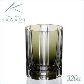 カガミクリスタル ロックグラス 320cc (T410-2438-BLK)