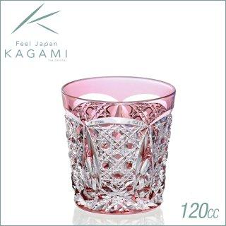 カガミクリスタル 江戸切子 伝統工芸士・木村秋男デザイン 冷酒杯 赤 120cc (T481-1917-CAU)