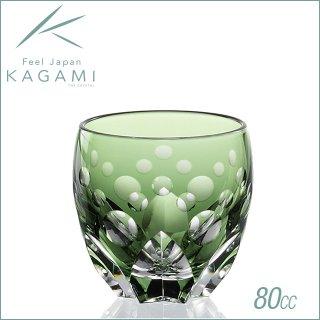 カガミクリスタル 江戸切子 伝統工芸士・鍋谷聰 作 冷酒杯<水仙> (T535-2838-CGR)