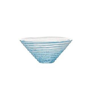 小鉢 和がらす かき氷 青 3個 東洋佐々木ガラス (41531)