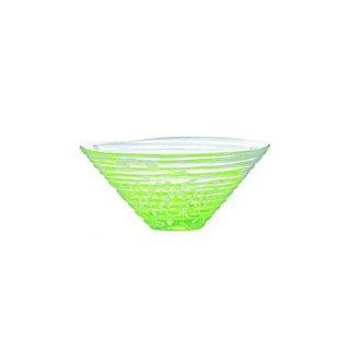 小鉢 和がらす かき氷 緑 3個 東洋佐々木ガラス (41533)