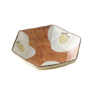 菓器 椿絵六角鉢 (G1724) ヤマキイカイ/用と美