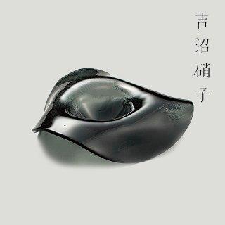 スタンドボール ブラック プレート 吉沼硝子 (18-608SB)