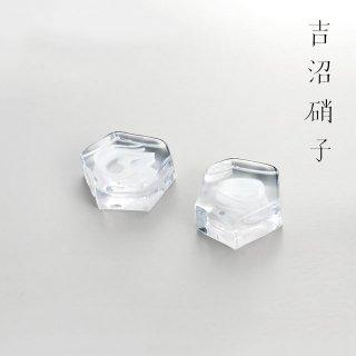 吉沼硝子 変形多角形アミューズ 白 (YD1-AMSI)