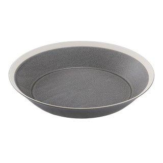 木村硝子店 dishes 230 plate (moss gray) /matte 3個セット (15677)