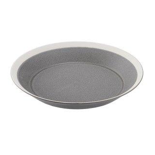 木村硝子店 dishes 220 plate (moss gray) /matte 3個セット (15683)