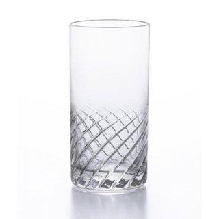 アデリア(石塚硝子) スラッシュ タンブラー8 (6個セット) 240ml [日本製 カクテル バー カット グラス 業務用 シンプル 箱入り] (B-2327)