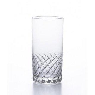 アデリア(石塚硝子) スラッシュ タンブラー10 (6個セット) 300ml [日本製 カクテル バー カット グラス 業務用 シンプル 箱入り] (B-2328)