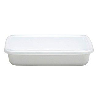 野田琺瑯 レクタングル浅形S ホワイトシリーズ シール蓋付 WRA-S (475008)