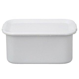 野田琺瑯 レクタングル深形LL ホワイトシリーズ 琺瑯蓋付 WFH-LL (475132)